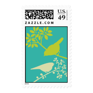 Colorful Birds Postage Stamp