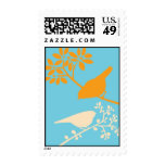 Colorful Birds Stamp