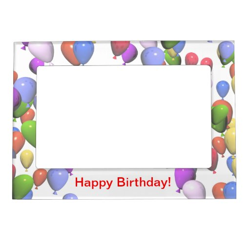 Colorful Birthday Balloons Magnetic Picture Frames   Zazzle