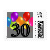 Colorful Birthday Balloons on Any Color- 30 Postage