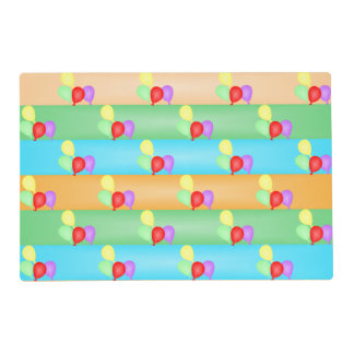 Colorful Birthday Balloons Pattern Placemat