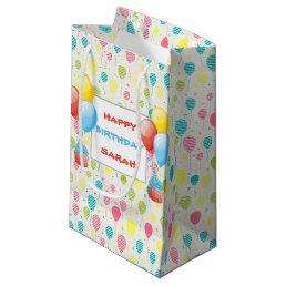 Colorful Birthday Balloons Small Gift Bag