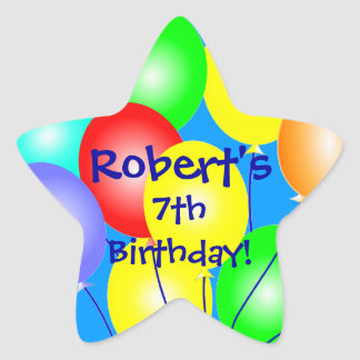 Colorful Birthday Balloons Stickers