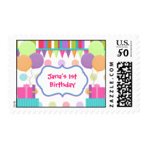 Colorful Birthday Custom Stamps
