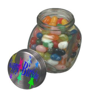 Colorful Birthday Glass Jars