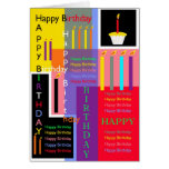 Colorful Birthday Greeting Cards