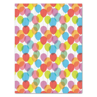 """Colorful Birthday Party Balloons Tissue Paper 15"""" X 20"""" Tissue Paper"""