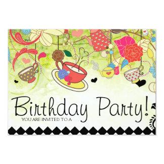 "Colorful Birthday Party Shower Invitation 5"" X 7"" Invitation Card"