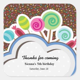 Colorful Birthday Square Sticker