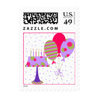 Colorful Birthday Stamp