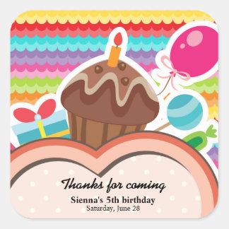 Colorful Birthday Sticker