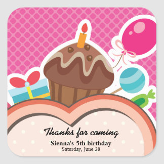 Colorful Birthday Stickers