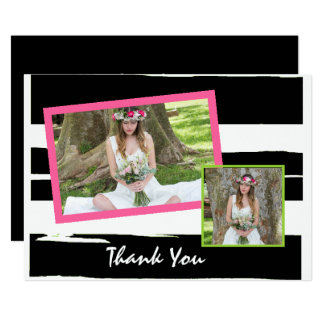 Colorful Black and White Photo Graduation Card
