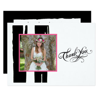 Colorful Black and White Watercolor Photo Card
