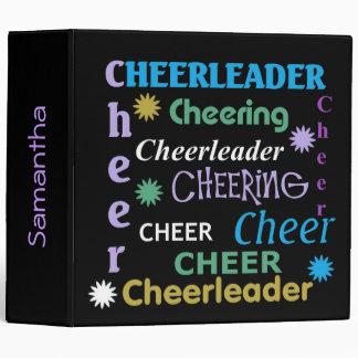 Colorful Black Cheerleader Binder