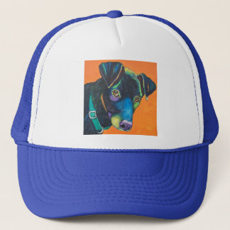 Colorful Black Lab Trucker Hat