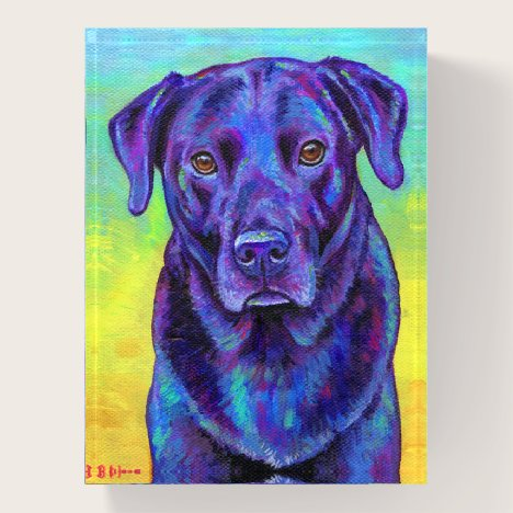 Colorful Black Labrador Retriever Dog Paperweight