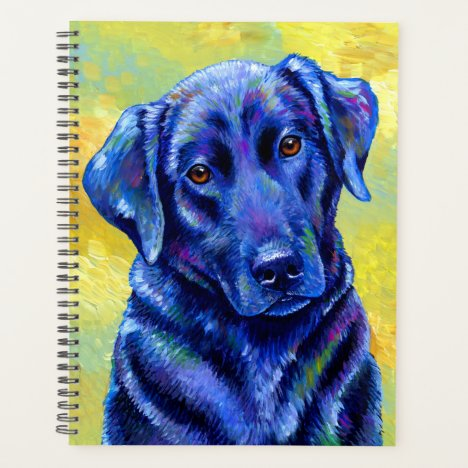 Colorful Black Labrador Retriever Dog Planner