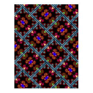 Colorful Black Mexican Style Postcard