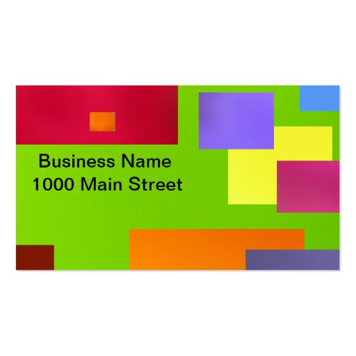 Colorful Black On Green Business Card