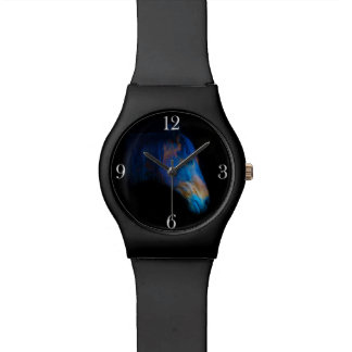 Colorful Black Percheron Horse Face Watch