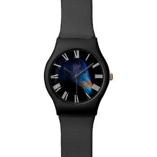 Colorful Black Percheron Horse Face Wrist Watch
