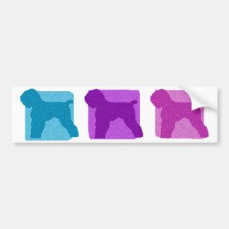 Colorful Black Russian Terrier Silhouettes Bumper Sticker