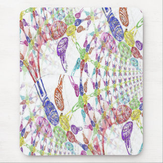Colorful Blacklight Microphones (Infinity Pattern) Mouse Pad