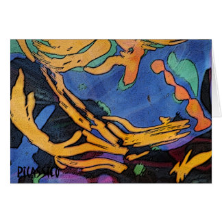 Colorful Blank Note Card with Original Art