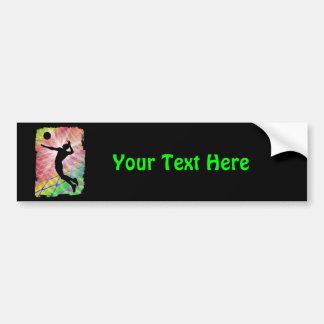 Colorful Blast Beach Volleyball Bumper Sticker
