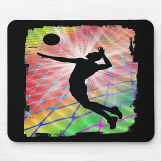 Colorful Blast Beach Volleyball Mousepad
