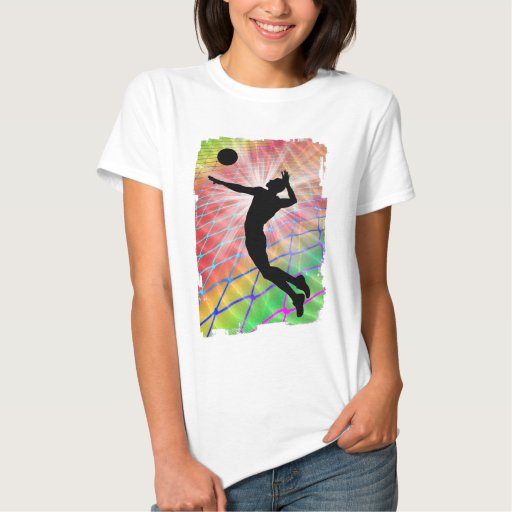 Colorful Blast Beach Volleyball Shirts