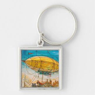 Colorful Blimp Painting Keychain