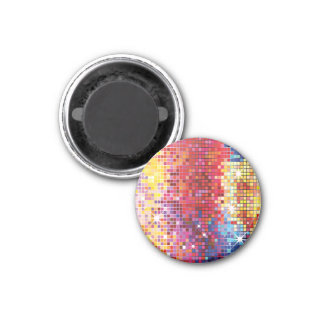 Colorful Bling-Magnet 1 Inch Round Magnet