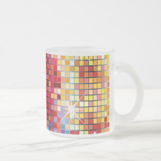 Colorful Bling-Mug Frosted Glass Coffee Mug