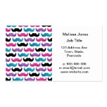 Colorful bling mustache pattern (Faux glitter) Business Cards