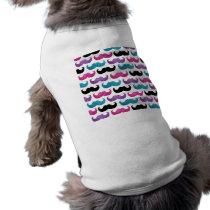 Colorful bling mustache pattern (Faux glitter) T-Shirt