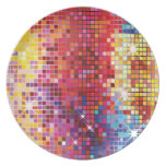 Colorful Bling-Plate Melamine Plate
