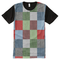 Colorful Blocks All Over Printed T-Shirt All-Over Print T-shirt