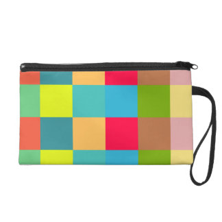 Colorful Blocks Wristlet Purse