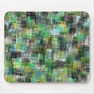 Colorful Blocks Greens Teals Mouse Pad