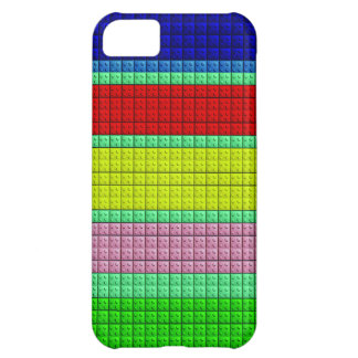 Colorful blocks pattern cover for iPhone 5C