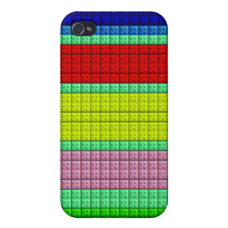 Colorful blocks pattern iPhone 4/4S covers