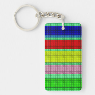 Colorful blocks pattern keychain