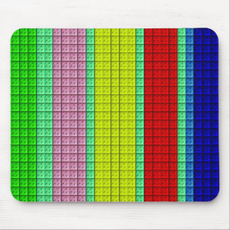 Colorful blocks pattern mouse pad