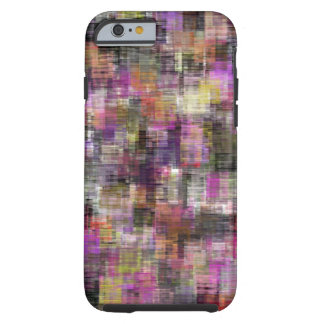 Colorful Blocks Pink To Black Tough iPhone 6 Case