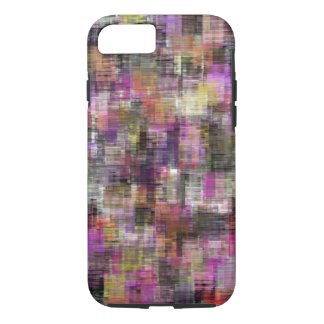 Colorful Blocks Pink To Black iPhone 7 Case