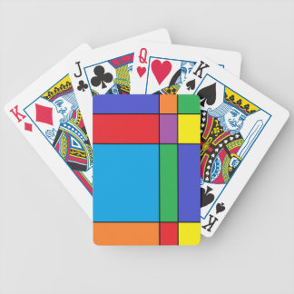 """Colorful Blocks"" Playing Cards"