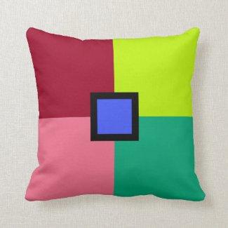 Colorful Blocks Throw Pillow
