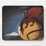 Colorful blood dragon mouse pad